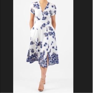 Dresses & Skirts - Women's size 18 white and blue floral dress